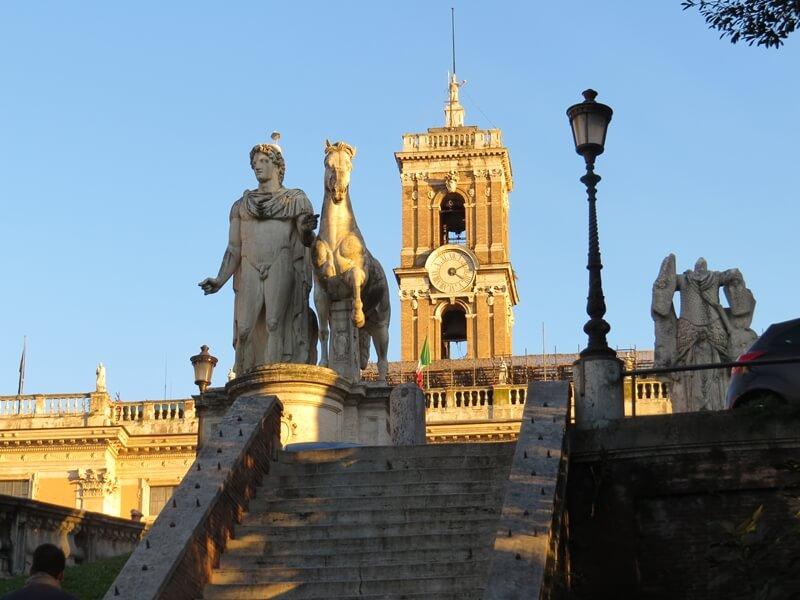 Aufgang zum Kapitolshügel in Rom