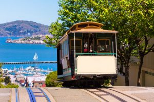 Cable Car in der Hyde Street von San Francisco
