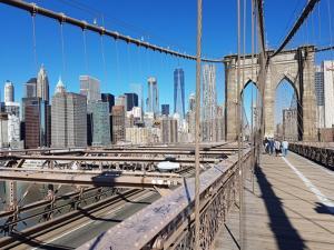 Spaziergang auf der Brooklyn Bridge