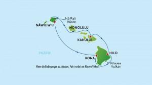 Hawaii  Routenkarte